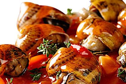 Piatti a base di lumache per il pranzo della domenica