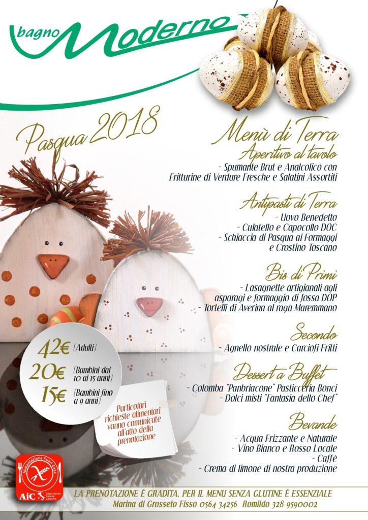 Menù Pasqua Moderno 2018